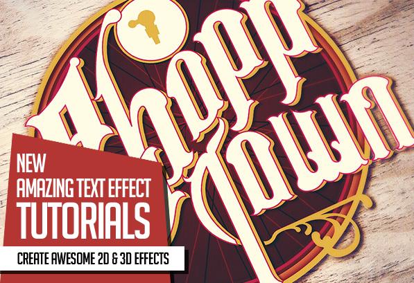 New Amazing 2D and 3D Text Effect Tutorials (26 New Tuts)