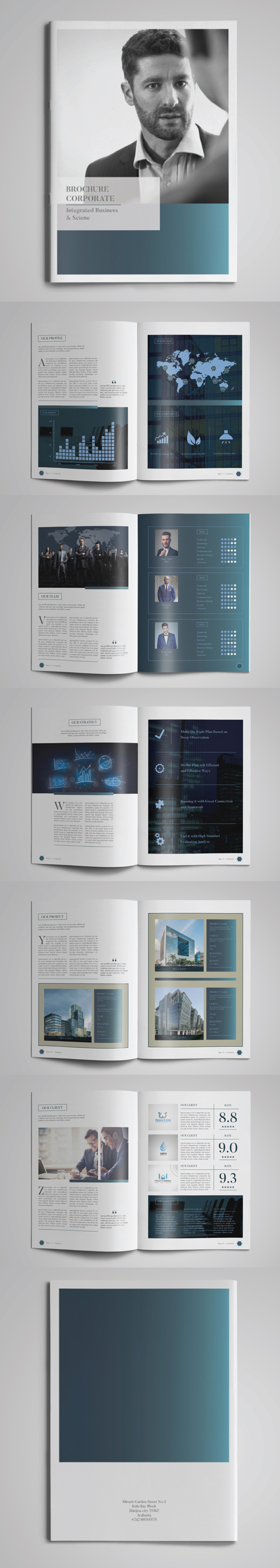 100 Professional Corporate Brochure Templates - 5