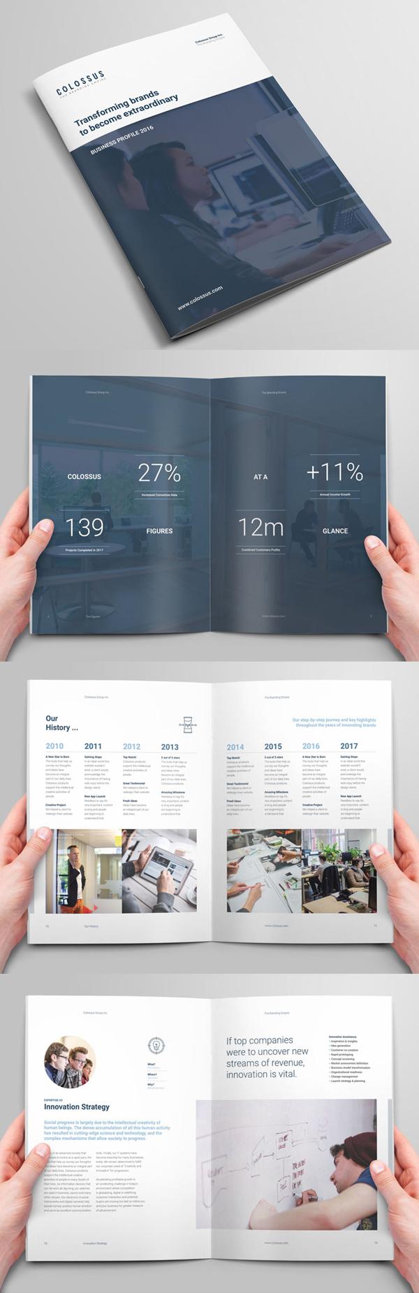 100 Professional Corporate Brochure Templates - 16