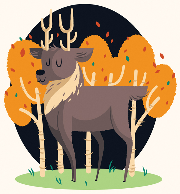 Create a Cute Deer Illustration in Adobe Illustrator