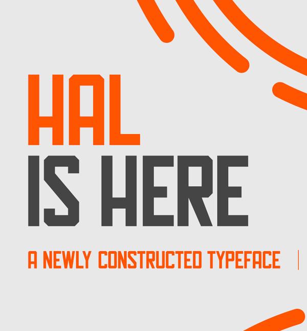 Hal Free Font