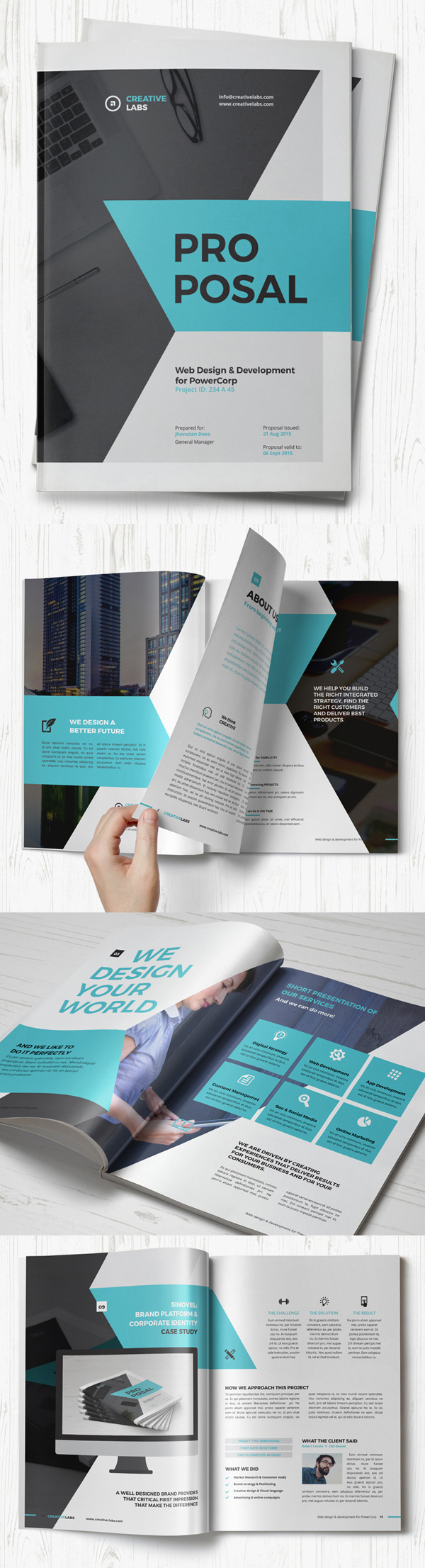 100 Professional Corporate Brochure Templates - 7