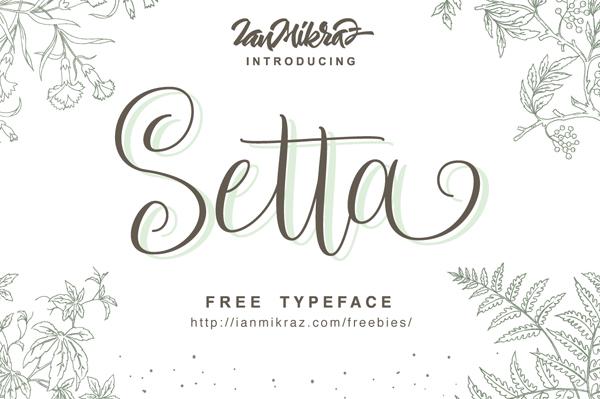 Setta Script Free Font
