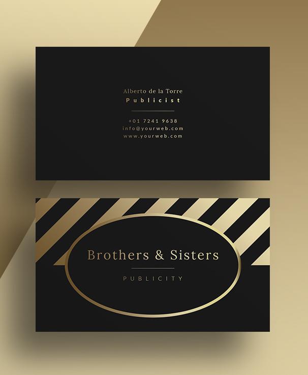 Gold Business Card PSD Template