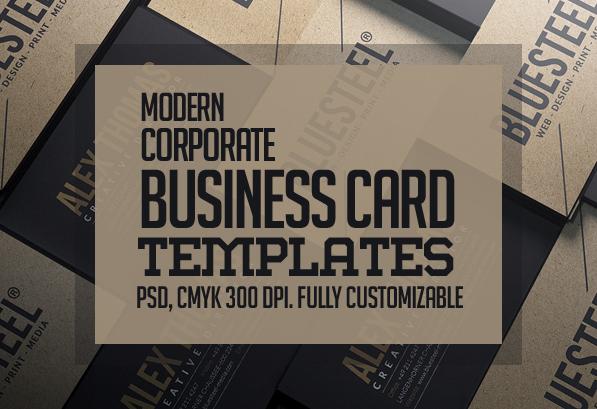 Modern Business Card PSD Templates: 27 New Design
