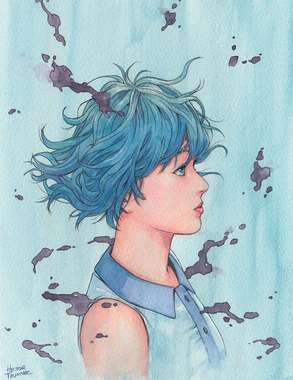 Amazing Watercolor Portrait Illustrations By Hector Trunnec - 12