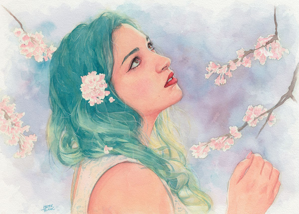 Amazing Watercolor Portrait Illustrations By Hector Trunnec - 13