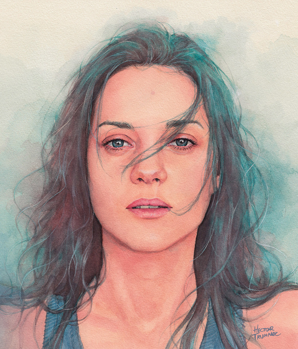 Amazing Watercolor Portrait Illustrations By Hector Trunnec - 2