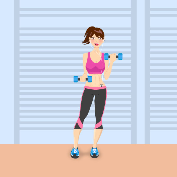 How to Create a Fitness Girl Character in Adobe Illustrator