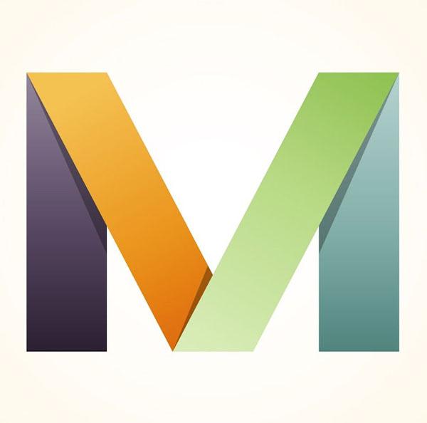 Trendy Folded Logo Design in Illustrator