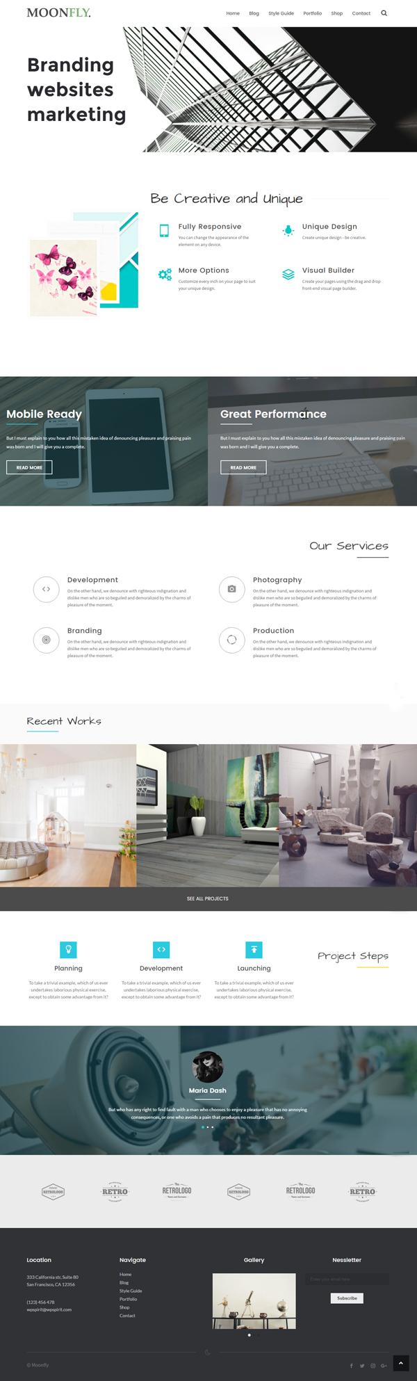 Moonfly - Multipurpose WordPress Theme