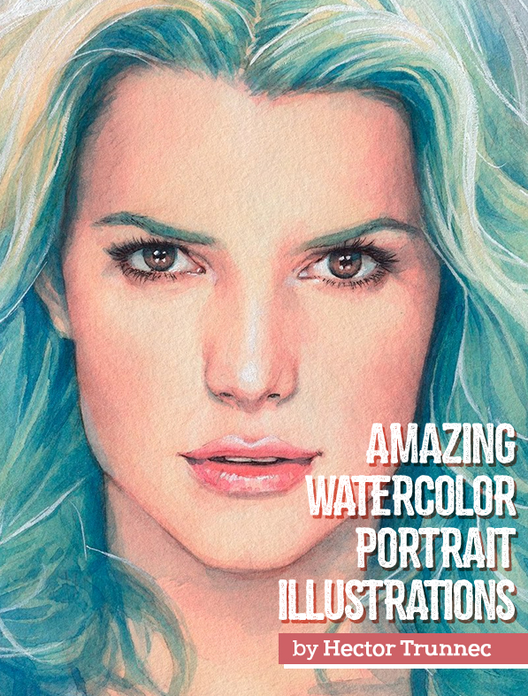 Amazing Watercolor Portrait Illustrations By Hector Trunnec