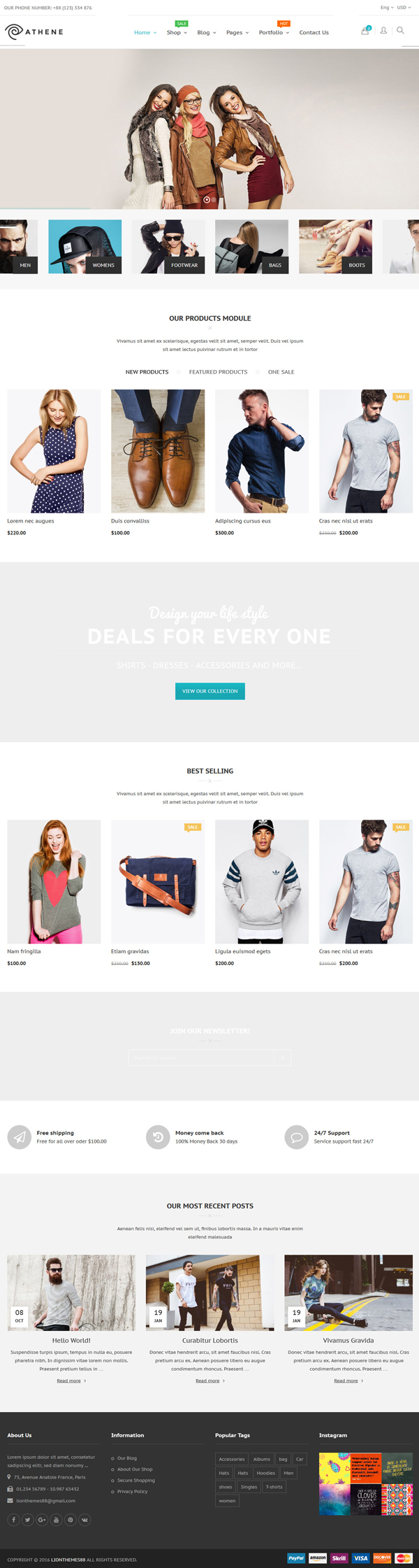 Athene - WooCommerce Responsive Fashion Theme