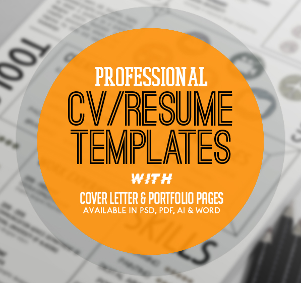New Professional CV / Resume Templates with Cover Letter