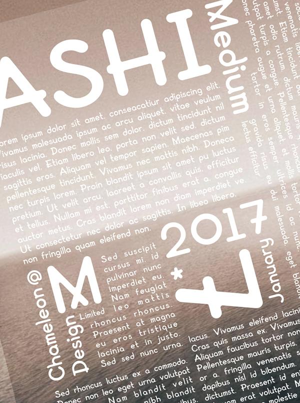AShi Font & Letters
