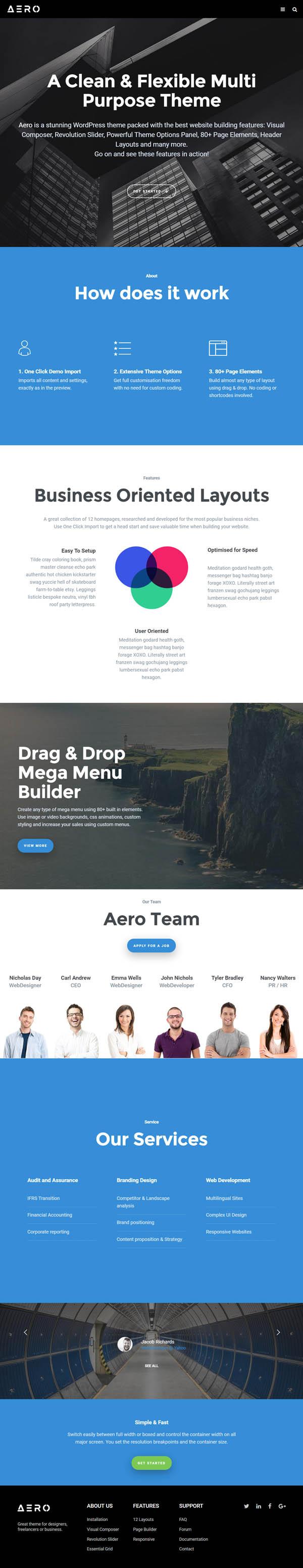 Aero - Responsive Multipurpose WordPress Theme