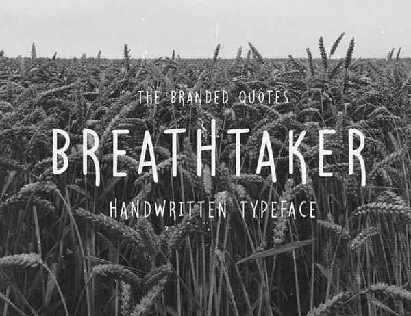 Breathtaker Handwritten Free Font