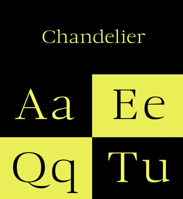 Chandelier Free Font