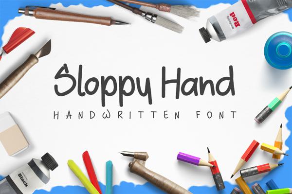 Sloppy Free Brush Font