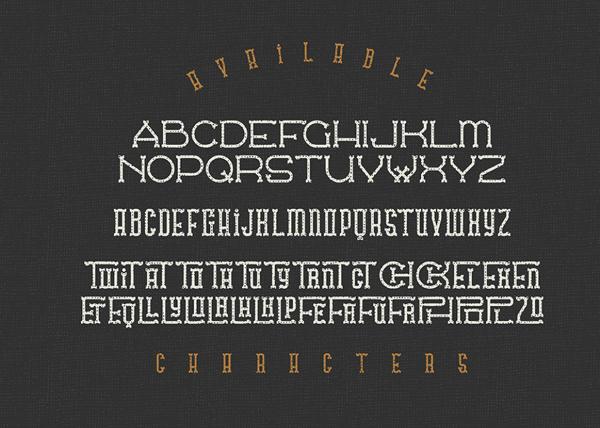 Traveler Font & Letters