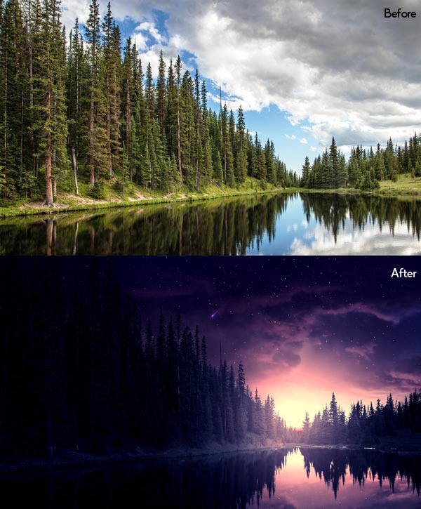 How to Create a Starry Night Scene in Photoshop