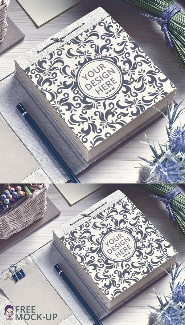 Free Paper Notepad Mockup