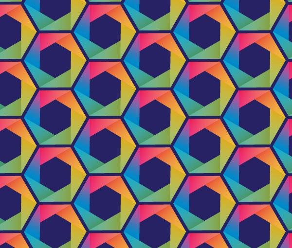 How to Create Rainbow Hexagon Pattern In Adobe Illustrator Tutorial