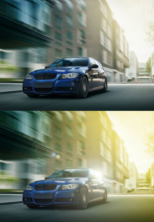 How to Create a hyper realistic non-destructive Lens Flare effect in Photoshop