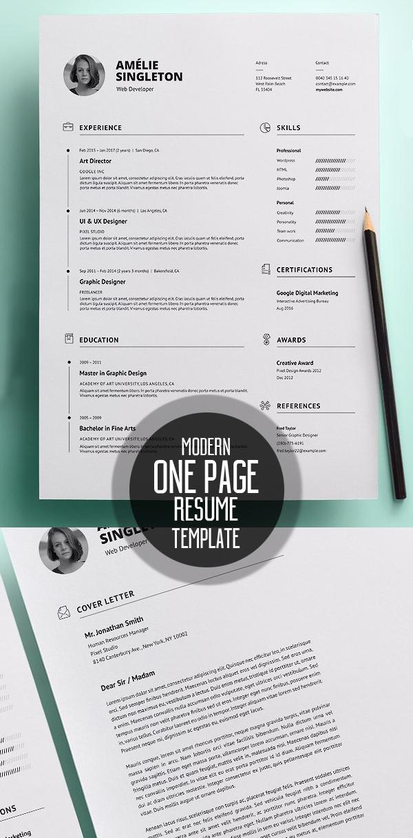 50 Best Minimal Resume Templates - 11