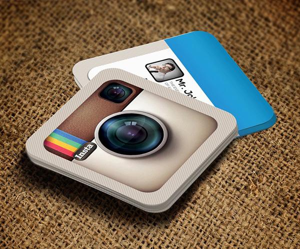 Creative Instagram Social Business Card Template
