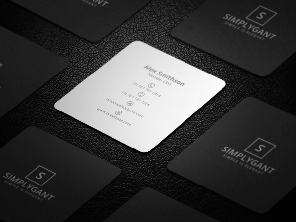 Mini Square Minimal Business Card