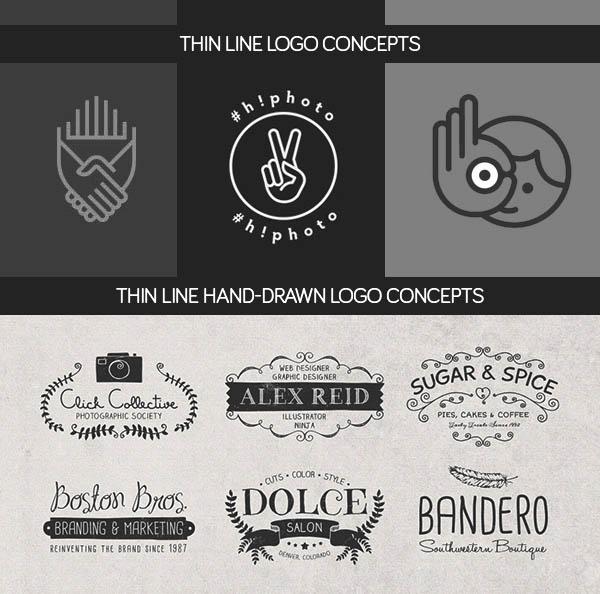 Thin Line & Hand-Drawn Logo Concept