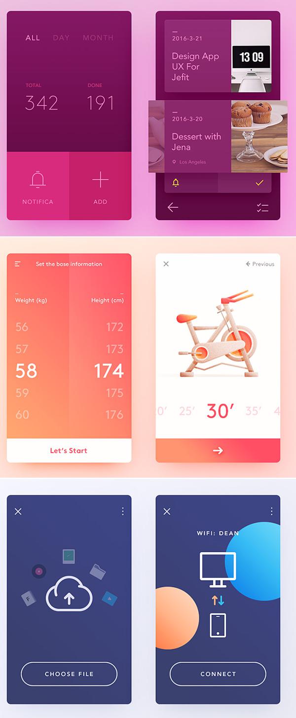 Free Modern UI Elements for GUI Screens