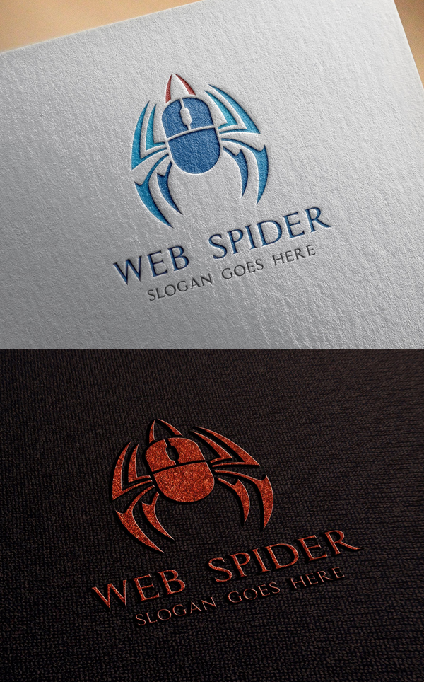 Web Spider Logo Template