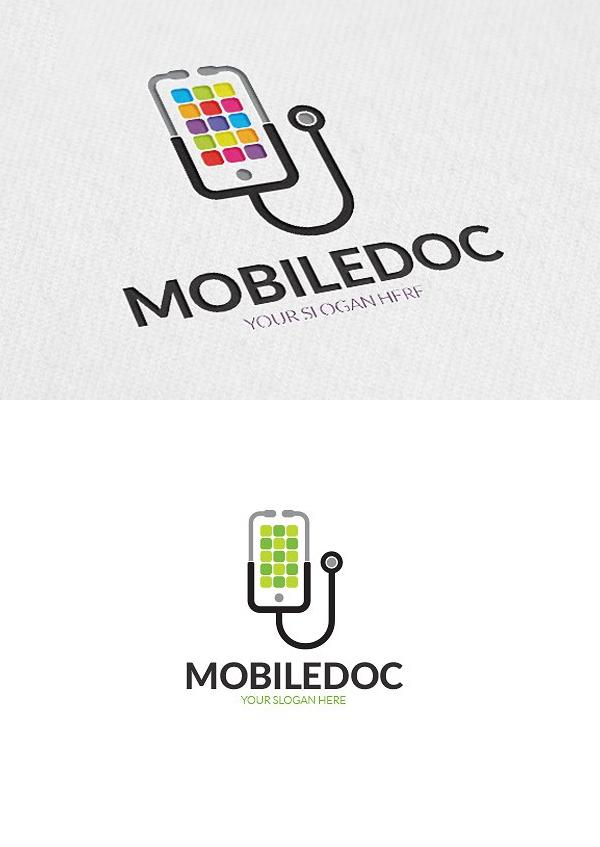 Mobile Doctor Logo Template
