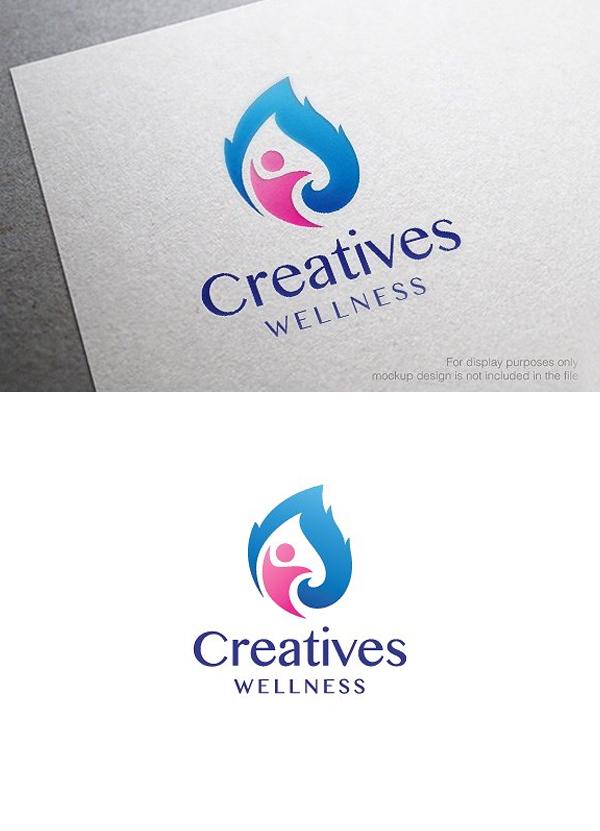 Health and Wellness Logo Template