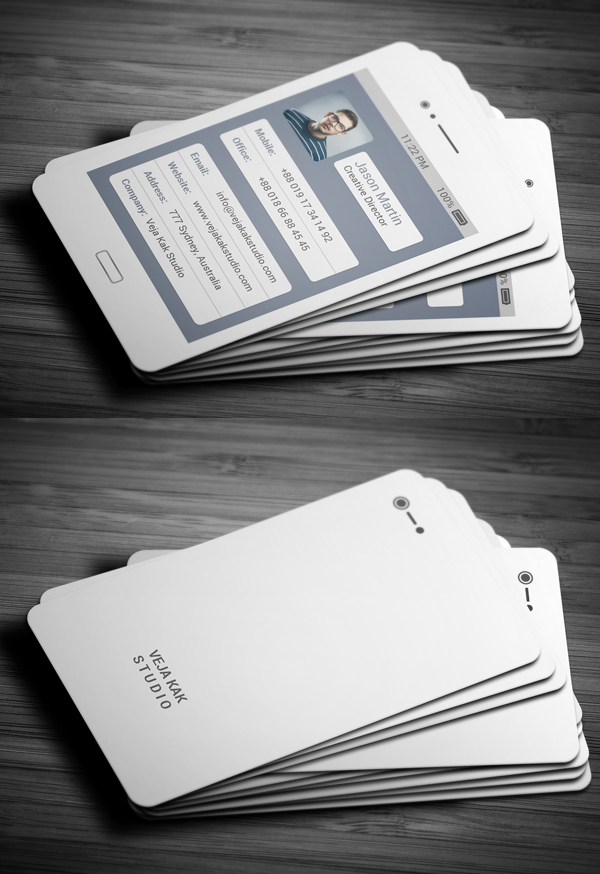 Free Galaxy Mobile Business Card Design