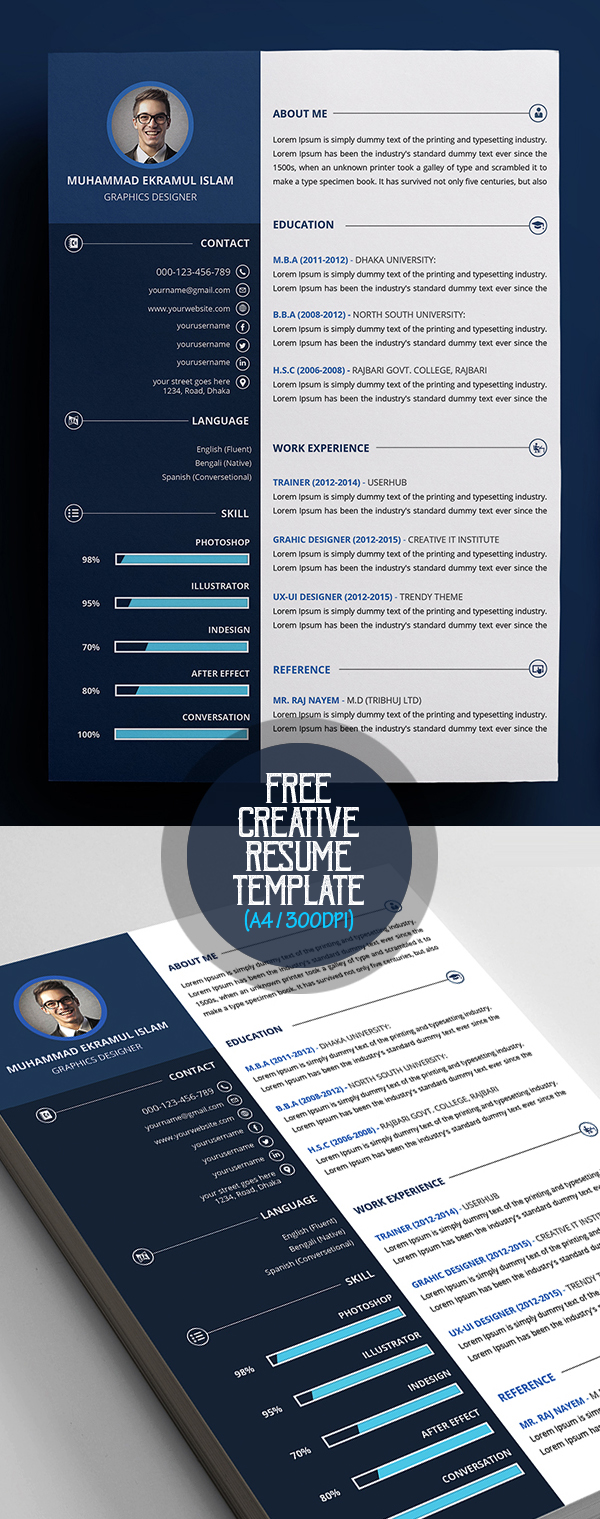 Free Creative Resume / CV Template