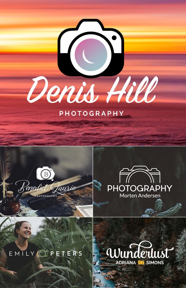 Free Photography / Camera Logo Design PSD Template