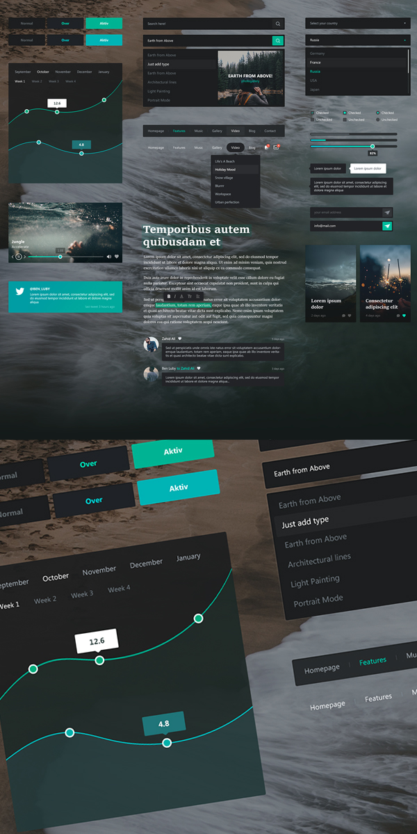 Free UI Kit for Modern UI Design