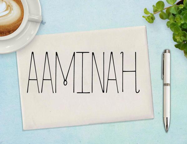 Aaminah Free Font