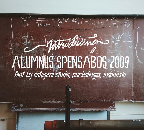Alumnus Spensabos 2009 Free Font