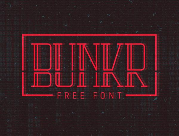 Bunkr Free Font