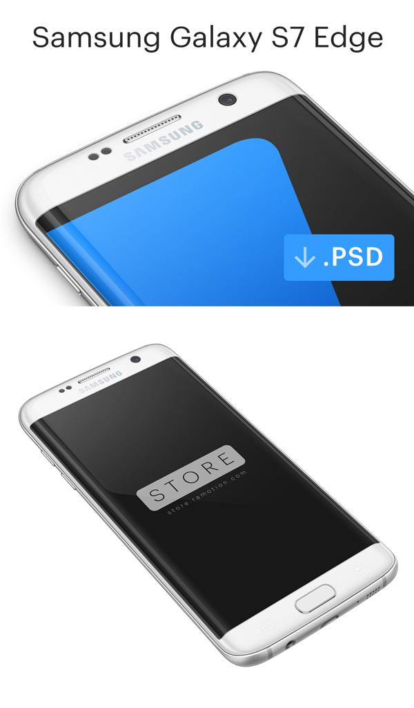 Free Samsung Galaxy S7 Edge Mockup PSD