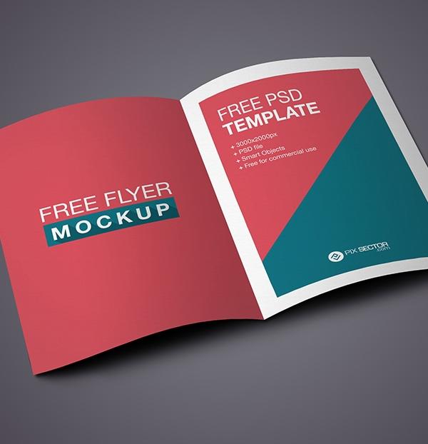 Free Flyer / Bifold Brochure Mockup PSD