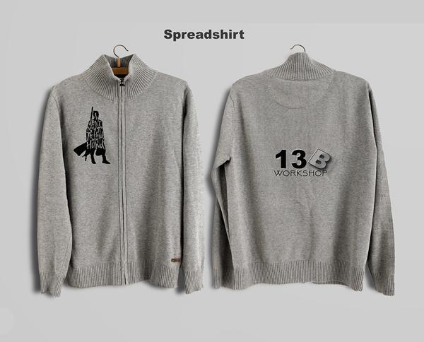 Free Spread Shirt Design PSD Mockup