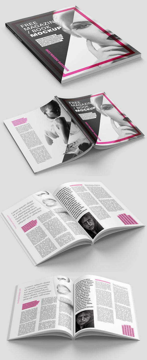 Free Magazine PSD Mockup