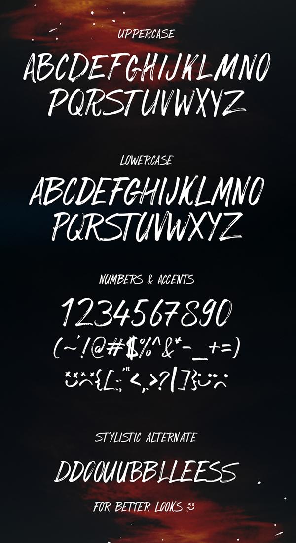 SickBoy Free Font & Letters