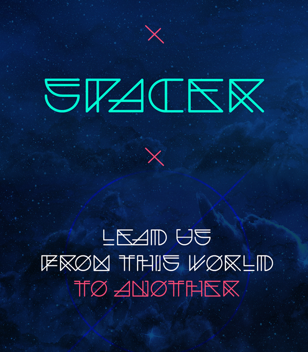 Spacer Free Font
