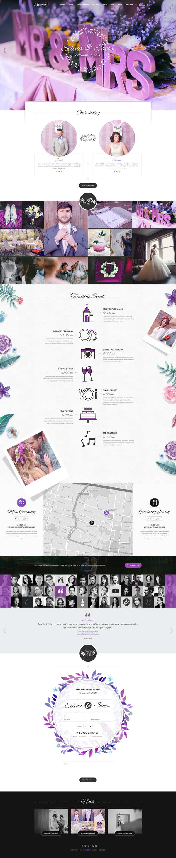 Bridal - Wedding WordPress Theme